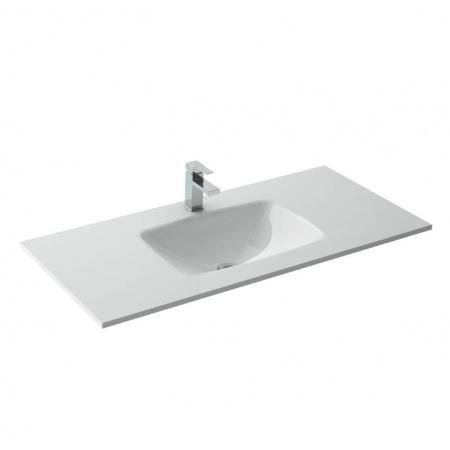 Elita Sempre Umywalka meblowa 101x46x9,5 cm szklana, biała 145148