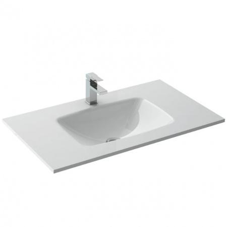 Elita Sempre Umywalka meblowa 81x46x9,5 cm szklana, biała 145144