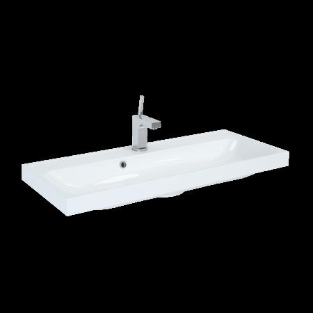 Elita Kwadro Umywalka meblowa 100x40x12,5 cm konglomeratowa, biała 22052009N