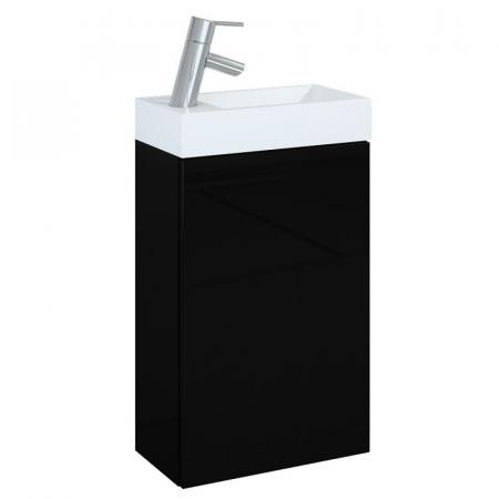 Elita Young Basic 40 1D Zestaw Szafka podumywalkowa 40x22,5x68 cm z umywalką, czarna/biała 163070