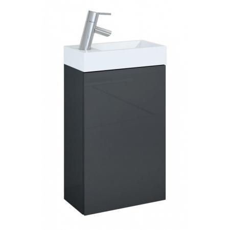 Elita Young Basic 40 1D Zestaw Szafka podumywalkowa 40x22x68 cm z umywalką, antracytowa/biała 166042