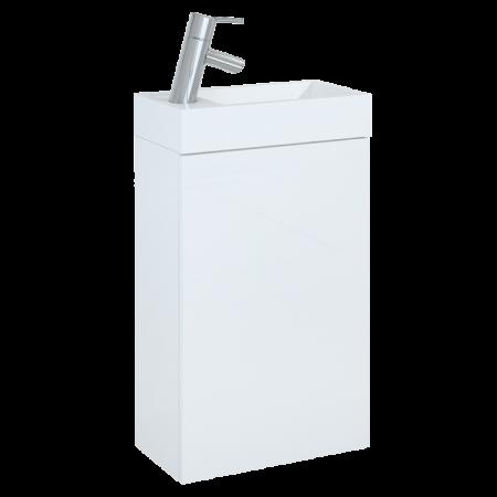 Elita Young Basic Szafka podumywalkowa z umywalką 40x22,5x68 cm, biała 163068
