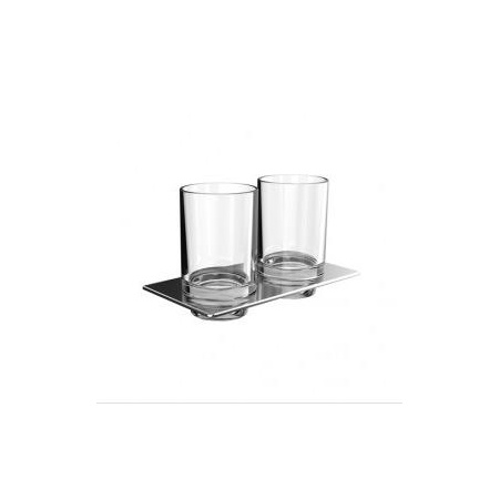 Emco Art Kubek szklany 19,4x10,1x11,5 cm, chrom 162500100