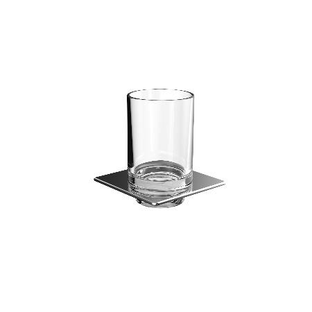 Emco Art Kubek szklany 10,1x10,1x11,5 cm, chrom 162000102
