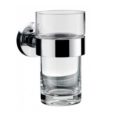 Emco Eposa Kubek szklany z uchwytem 6,4x10,4x11,5 cm, chrom 08200010