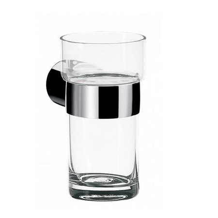Emco Fino Kubek szklany z uchwytem 6,5x9,8x11,5 cm, chrom 842000101