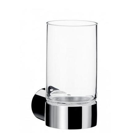 Emco Fino Kubek szklany z uchwytem 6,5x9,8x12,7 cm, chrom 842000100
