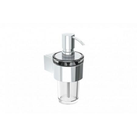 Emco Liaison Dozownik do mydła w płynie z uchwytem na reling 7,2x12,2x16,8 cm, chrom 172100132