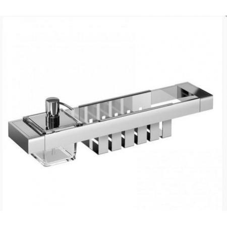 Emco Liaison Zestaw łazienkowy z dozownikiem do mydła i koszykiem 47,6x10,1x14,9 cm, chrom 176500115