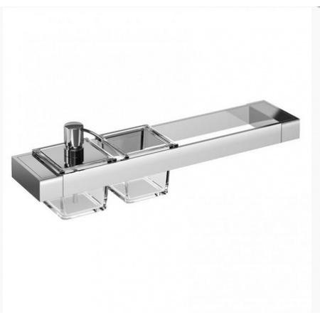 Emco Liaison Zestaw łazienkowy z dozownikiem do mydła i szklanym naczyniem 47,6x10,1x14,9 cm, chrom 176500107