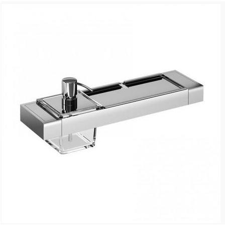 Emco Liaison Zestaw łazienkowy z dozownikiem do mydła i metalową półką 36,6x10,1x14,9 cm, chrom 176500104