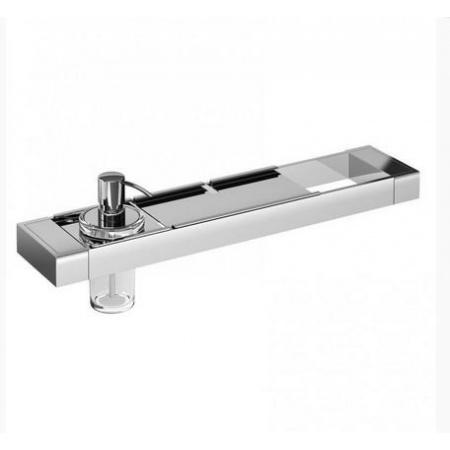 Emco Liaison Zestaw łazienkowy z dozownikiem do mydła i metalową półką 47,6x10,1x16,8 cm, chrom 176500110