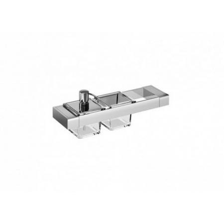 Emco Liaison Zestaw łazienkowy z dozownikiem do mydła i szklanym naczyniem 36,6x10,1x14,9 cm, chrom 176500101