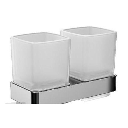 Emco Loft Kubek szklany z uchwytem podwójny 15,5x9,8x10 cm, chrom 052500100
