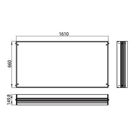 Emco Ramka montażowa 161x66 cm, 989700023