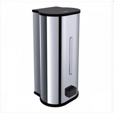 Emco System 2 Dozownik do mydła w płynie 12x11,2x24,7 cm, chrom 352100104