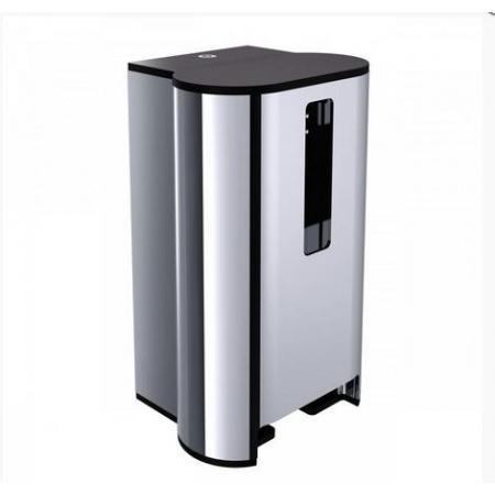 Emco System 2 Pojemnik na papier toaletowy 17,1x14,1x28,5 cm, chrom 350000104