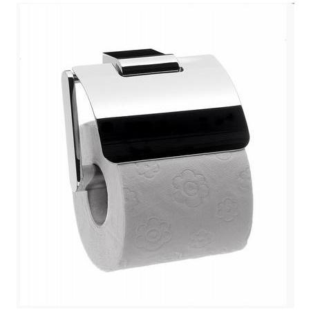 Emco System 2 Uchwyt na papier toaletowy z pokrywą 12,4x11x8,7 cm, chrom 350000106