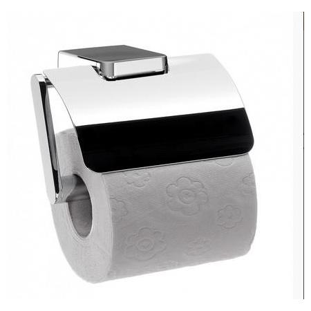 Emco Trend Uchwyt na papier toaletowy z pokrywą 12,4x11x8,7 cm, chrom 020000102