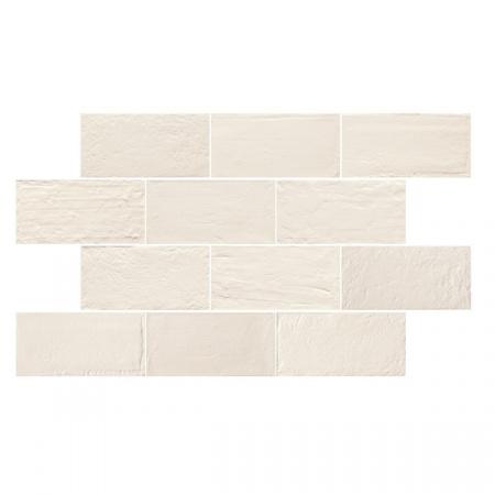Emil Ceramica Kotto Brick Gesso Gres Płytka podłogowa 12,5x25 cm, biała ECKOBRGGPP12X25B