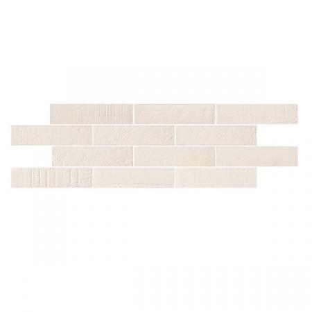 Emil Ceramica Kotto Brick Gesso Gres Płytka podłogowa 6x25 cm, biała ECKOBRGGPP6X25B