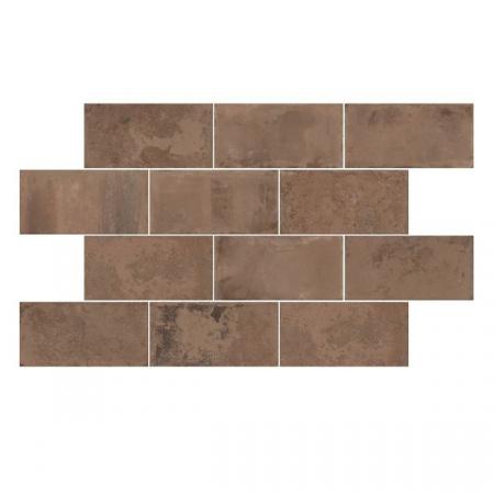 Emil Ceramica Kotto Brick Mattone Gres Płytka podłogowa 12,5x25 cm, brązowa ECKOBRMGPP12X25B