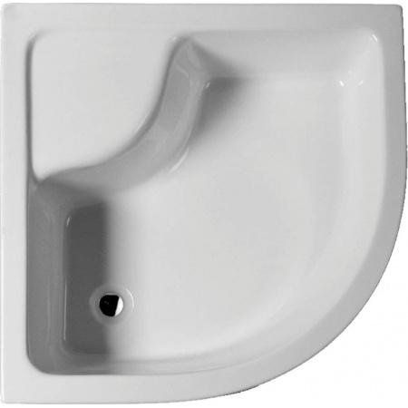 Scansani Rondo Brodzik półokrągły 90x90 cm wysoki, biały BPZSRONDO9090