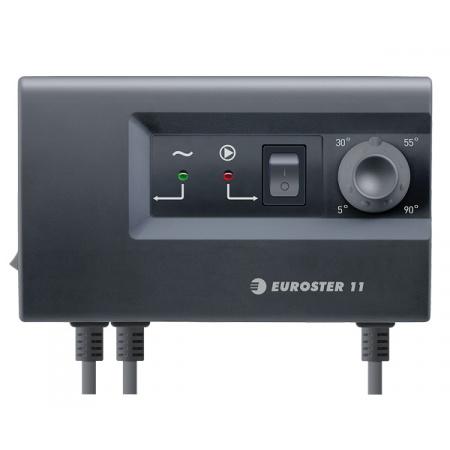 Euroster E11 Sterownik pompy c.o. w instalacjach grzewczych 15x5,2x9 cm, czarny 11C