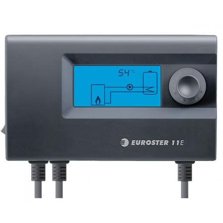 Euroster E11E Sterownik pompy centralnego ogrzewania 15x5,2x9 cm, czarny E11E
