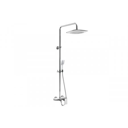 Excellent Rain Altar White Zestaw wannowo-prysznicowy natynkowy, chrom/biały AREX.SY.781W