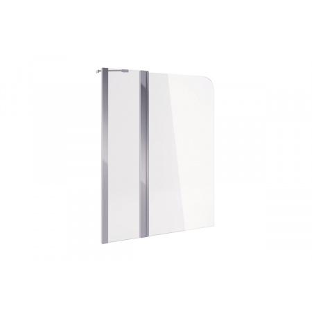 Excellent Actima Seria 900 Parawan nawannowy dwuczęściowy 100x145 cm, profile chrom szkło przezroczyste KAAC.1609.1000.LP