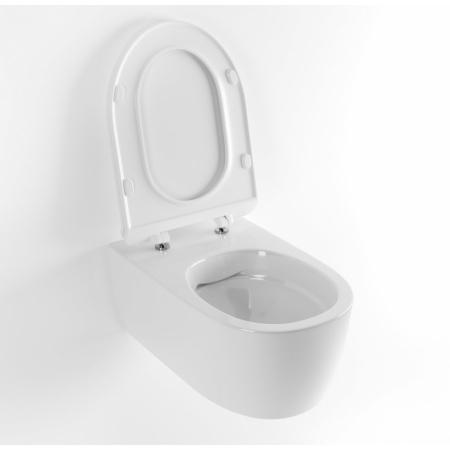 Excellent Doto Toaleta WC podwieszana 48,5x36,5 cm krótka Pure-Rim bez wewnętrznego kołnierza z deską sedesową wolnoopadającą, biała CEEX.1404.485.WH