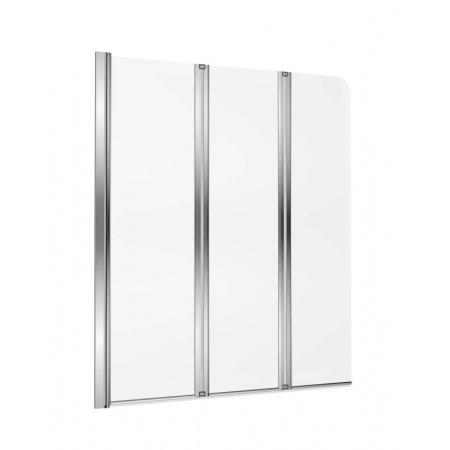 Excellent Axel Parawan nawannowy 120x140 cm składany 3-częściowy lewy, profile chrom szkło przezroczyste Clean Control KAAX.1309.1200.LE