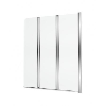 Excellent Axel Parawan nawannowy 120x140 cm składany 3-częściowy prawy, profile chrom szkło przezroczyste Clean Control KAAX.1309.1200.PR