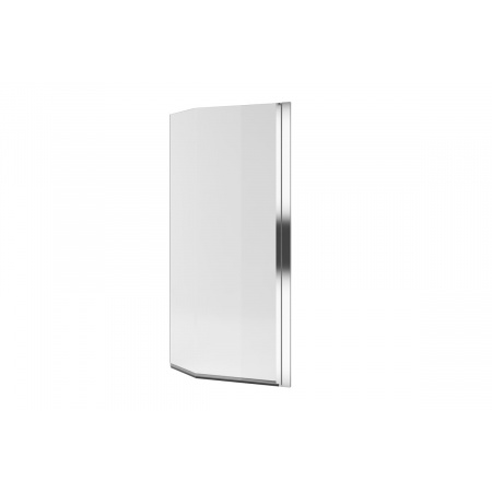 Excellent Be Spot Parawan nawannowy jednoczęściowy gięty 75x140 cm prawy, profile chrom szkło przezroczyste KAEX.2309.750.PR