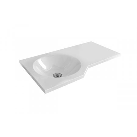 Excellent Be Spot Umywalka wisząca lub nablatowa 60x34,5x8 cm bez przelewu, biała CEEX.2301.600.WH
