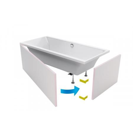 Excellent Flex System Obudowa do wanny prostokątnej do zabudowy płytkami, OBEX.P.18X85WH