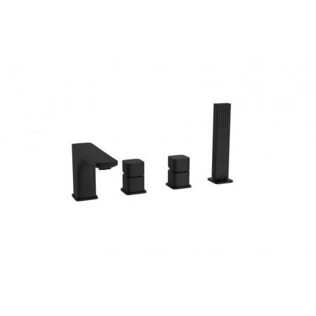 Excellent Keria Black Bateria wannowo-prysznicowa 4-otworowa czarny mat AREX.2033BL