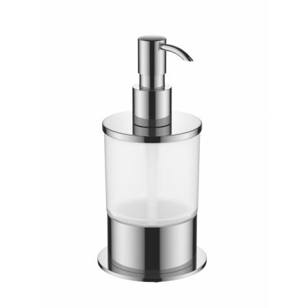 Excellent Kobo Dozownik do mydła w płynie stojący, chrom/szkło DOEX.1716CR