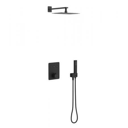 Excellent Krotos Zestaw prysznicowy podtynkowy z termostatem czarny mat AREX.SET.8046BL