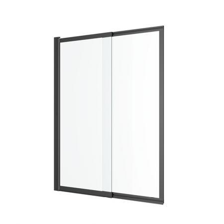 Excellent Liner Parawan przesuwny 110x140 cm profile czarne szkło przezroczyste KAEX.2930.1100.LP