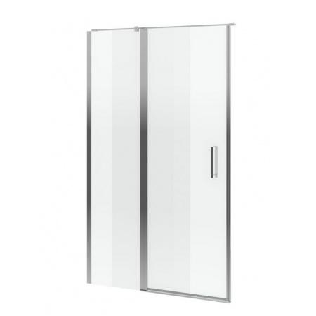 Excellent Mazo Drzwi prysznicowe 130x195 cm uchylne ze ścianką stałą, profile chrom szkło przezroczyste Clean Control KAEX.3025.1010.1300.LP