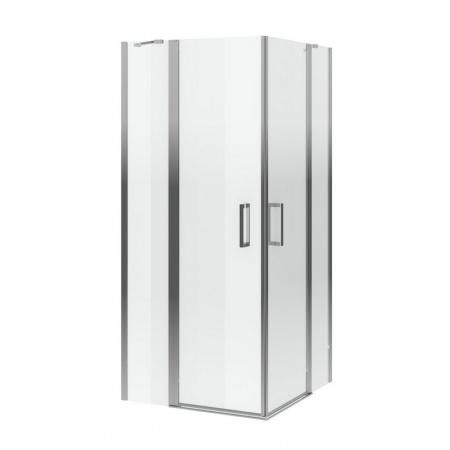 Excellent Mazo Kabina prysznicowa narożna 90x90x195 cm dwudrzwiowa ze ścianką stałą, profile chrom szkło przezroczyste Clean Control KAEX.3023.1010.9090.LP