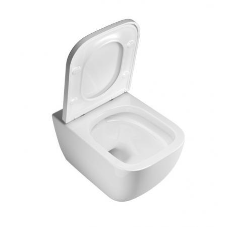 Excellent Ness Zestaw Toaleta WC 50x34,5 cm bez kołnierza + deska wolnoopadająca biały CENL.3509.500.WH
