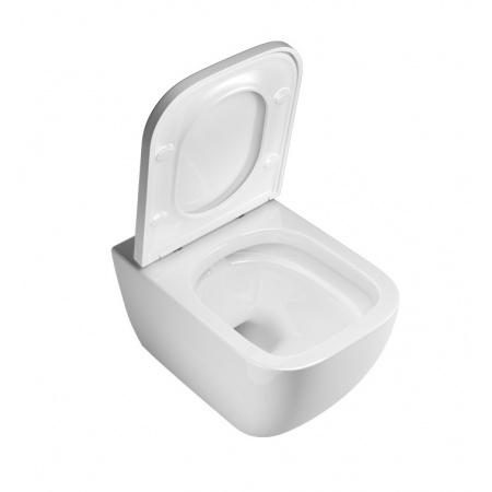 Excellent Ness Zestaw Toaleta WC podwieszana 50x34,5 cm Flash-Rim bez kołnierza z deską sedesową wolnoopadającą, biały CENL.3504.500.WH+CENL.3515.500.WH