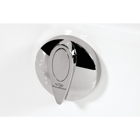 Excellent Oval Przelew wannowy standardowy automatyczny 80 cm, chrom mat AREX.1531CRMAT
