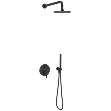 Excellent Pi Zestaw prysznicowy podtynkowy z deszczownicą czarny mat AREX.SET.1245BL