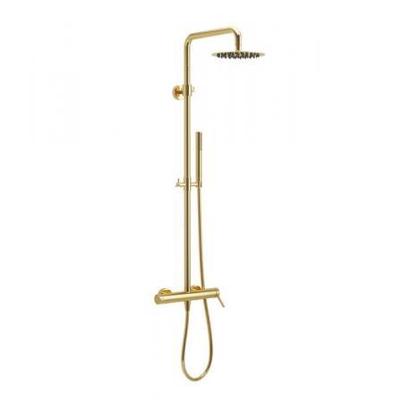 Excellent Pi Zestaw prysznicowy natynkowy z deszczownicą złoty AREX.1281GL