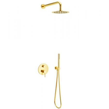 Excellent Pi Zestaw prysznicowy podtynkowy z deszczownicą złoty AREX.SET.1245GL