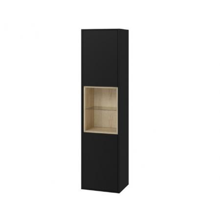 Excellent Tuto Słupek boczny 40x32x160 cm czarny mat/dąb MLEX.0201.400.BKBL